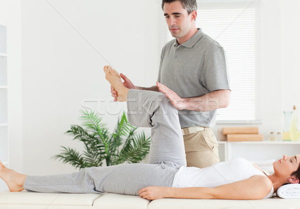 костоправ ногу стороны спорт Сток-фото © wavebreak_media