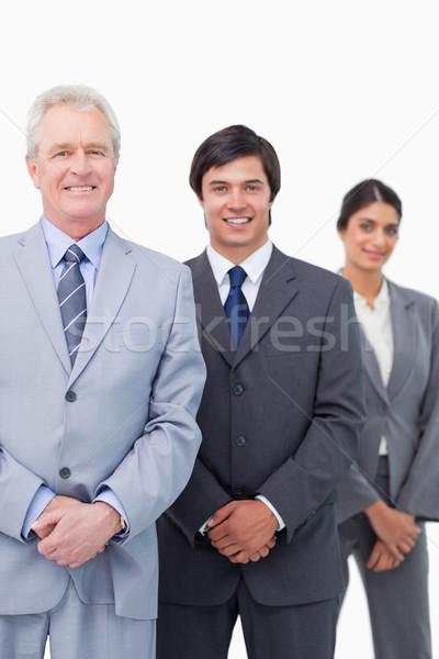 Glimlachend volwassen zakenman jonge witte Stockfoto © wavebreak_media