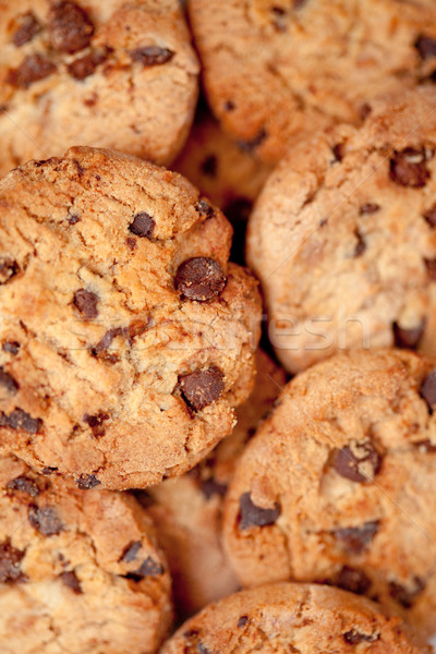 Close up of many blurred cookies laid out together Stock photo © wavebreak_media