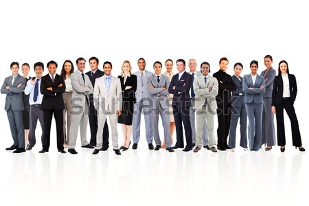 Business people standing up against a white background Stock photo © wavebreak_media