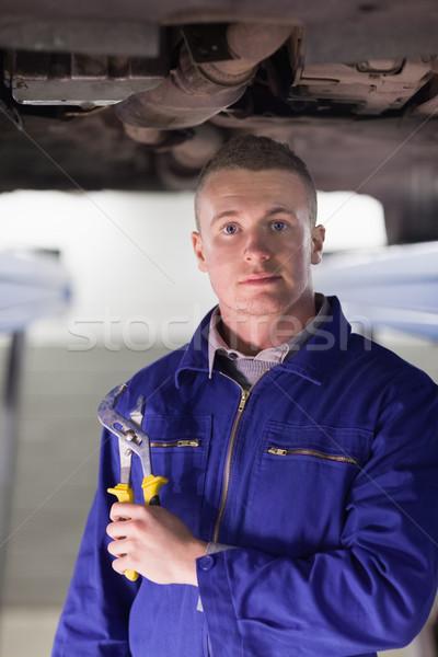 Monteur verstelbaar garage auto motor Stockfoto © wavebreak_media