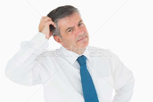 Perplexe affaires tête gens d'affaires shirt Homme Photo stock © wavebreak_media