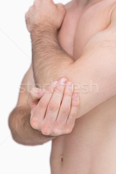 более локоть белый мужчины изолированный Сток-фото © wavebreak_media