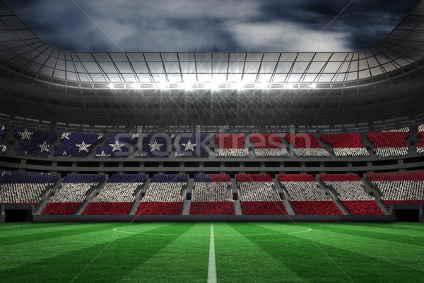 Digitálisan generált amerikai zászló nagy futball Stock fotó © wavebreak_media