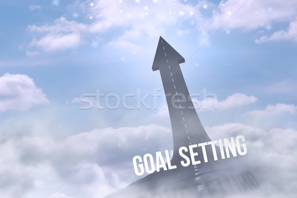 Goal setting against road turning into arrow Stock photo © wavebreak_media