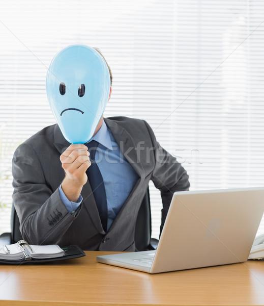 ビジネスマン 悲しい スマイリー バルーン 肖像 ストックフォト © wavebreak_media