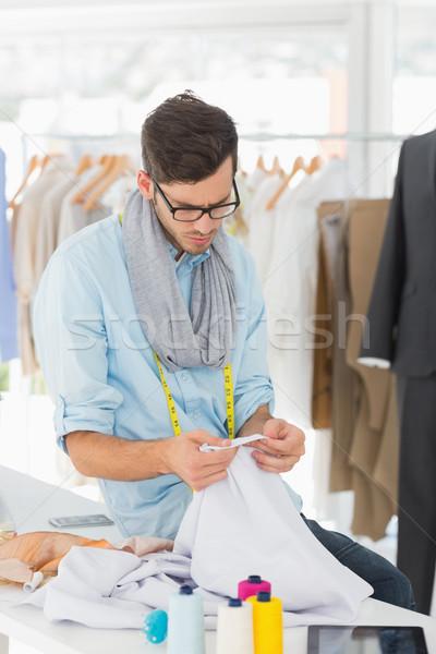 Concentrated male fashion designer at work Stock photo © wavebreak_media