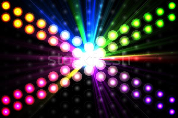 генерируется дискотеку свет Cool цветы Сток-фото © wavebreak_media