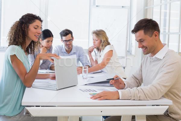 Casual business team having a meeting Stock photo © wavebreak_media