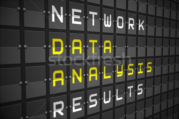 данные анализ черный механический совета Сток-фото © wavebreak_media