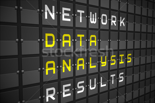 Datos análisis negro mecánico bordo digitalmente Foto stock © wavebreak_media