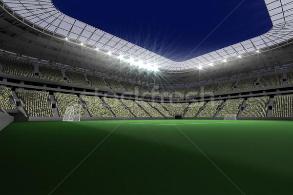 Piłka nożna stadion światła cyfrowo wygenerowany Zdjęcia stock © wavebreak_media