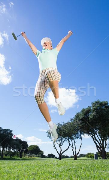 Feminino jogador de golfe campo de golfe grama Foto stock © wavebreak_media