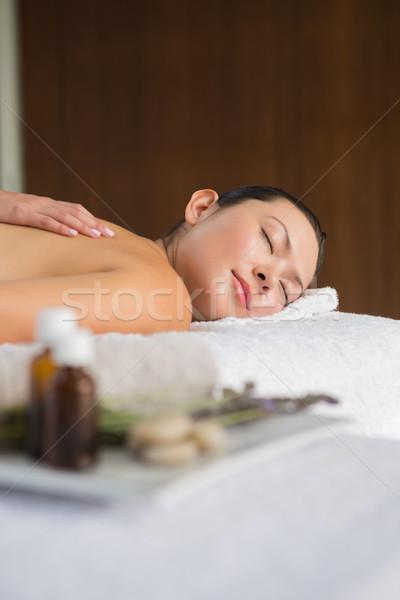 Contenuti bruna indietro massaggio spa donna Foto d'archivio © wavebreak_media