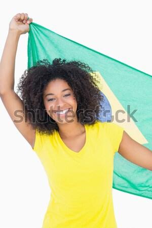 Mooie meisje Geel tshirt denim hot Stockfoto © wavebreak_media