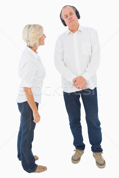 Annoyed woman being ignored by her partner Stock photo © wavebreak_media