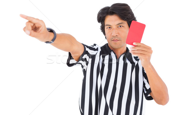 Stern referee showing red card Stock photo © wavebreak_media