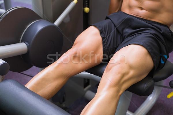 Kas adam bacak antreman Stok fotoğraf © wavebreak_media