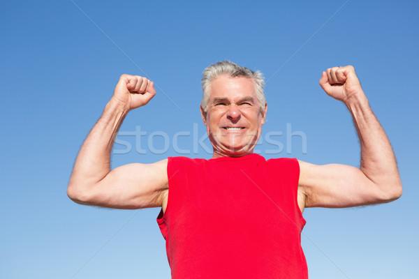 Attivo senior uomo rosso serbatoio Foto d'archivio © wavebreak_media