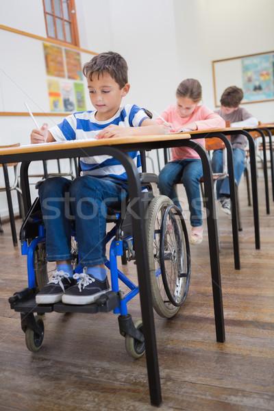 инвалидов Дать столе классе девушки Сток-фото © wavebreak_media