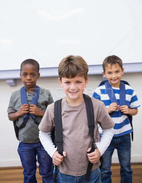 Souriant ensemble classe école élémentaire école Photo stock © wavebreak_media