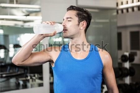 Fitt férfi elvesz törik edz tornaterem Stock fotó © wavebreak_media