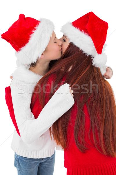 Madre figlia abbraccio bianco ragazza Foto d'archivio © wavebreak_media