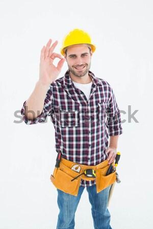 Klusjesman okay portret mannelijke witte Stockfoto © wavebreak_media