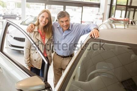 Pár beszél együtt néz autó új autó Stock fotó © wavebreak_media