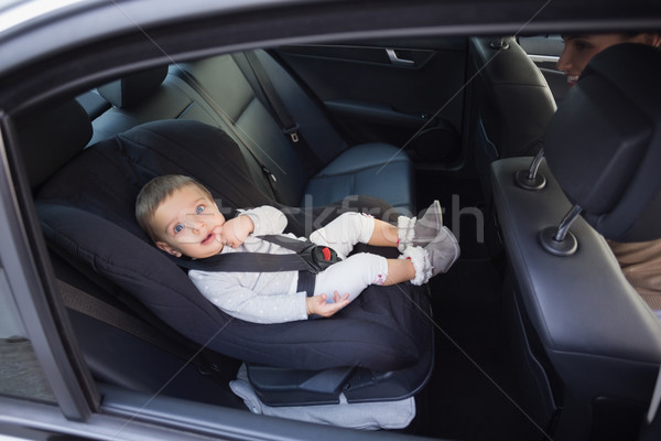 Cute baby in a car seat Stock photo © wavebreak_media