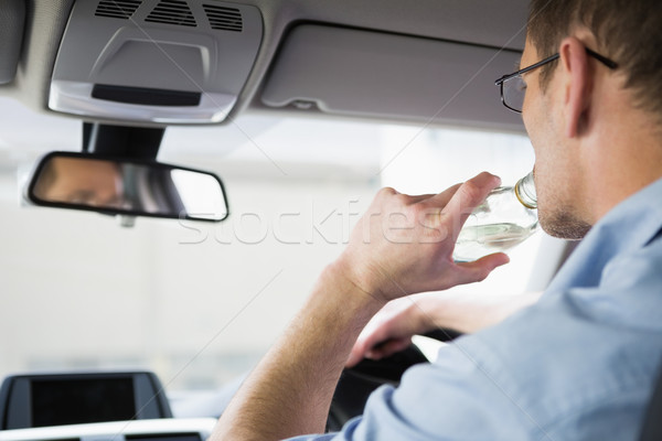 Careless man driving while drunk Stock photo © wavebreak_media