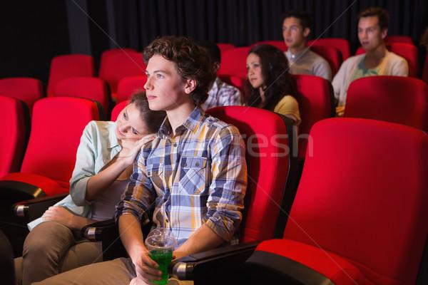 Jovens assistindo filme cinema menina homem Foto stock © wavebreak_media
