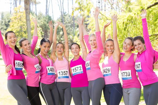 улыбаясь женщины работает Рак молочной железы осведомленность Сток-фото © wavebreak_media