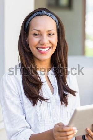 かなり ブルネット 送信 白 女性 ストックフォト © wavebreak_media
