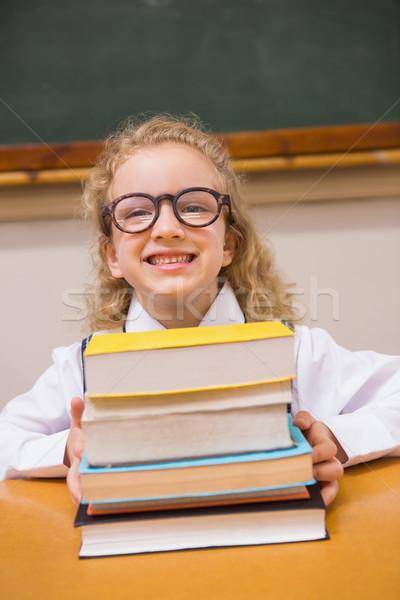 Sorridente livros escola primária escolas feliz Foto stock © wavebreak_media