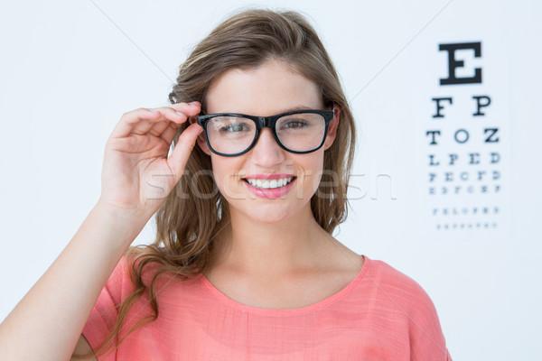 Bastante gafas examen de la vista blanco Foto stock © wavebreak_media