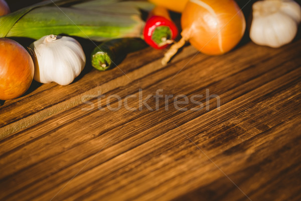 Vegetables laid out on table Stock photo © wavebreak_media