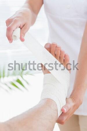 Terapeuta ceretta gamba spa centro Foto d'archivio © wavebreak_media