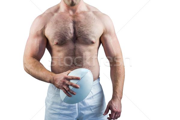 рубашки регби игрок мяча белый Сток-фото © wavebreak_media