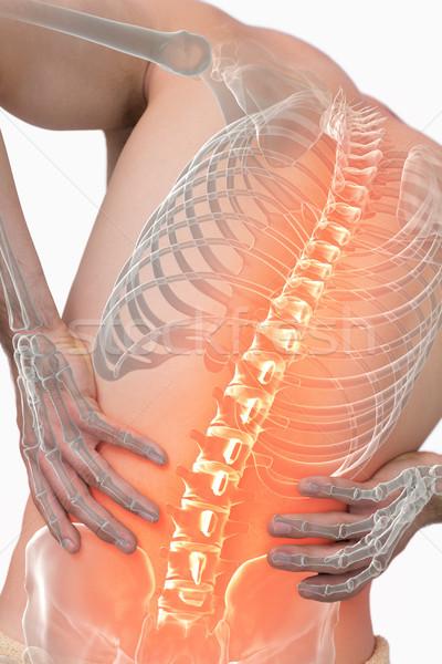 Composição digital coluna homem dor nas costas branco equipe Foto stock © wavebreak_media