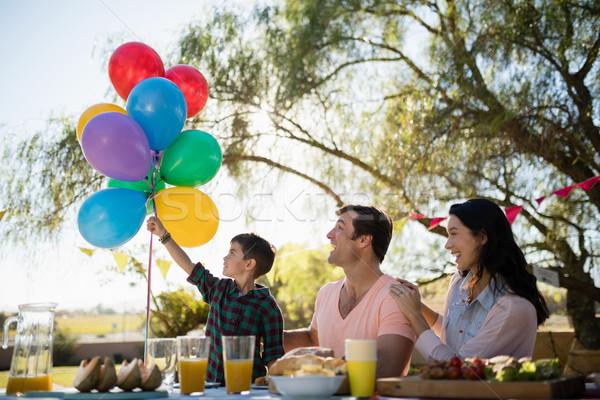 Family enjoying together in the park Stock photo © wavebreak_media