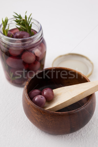Rood olijven jar container Stockfoto © wavebreak_media