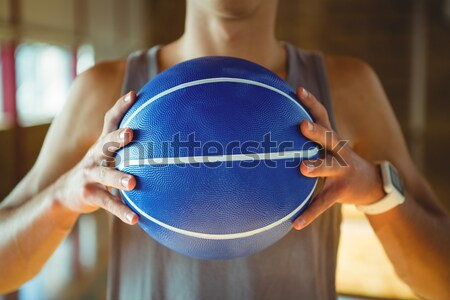 Halten Ball stehen Gericht Basketball Stock foto © wavebreak_media