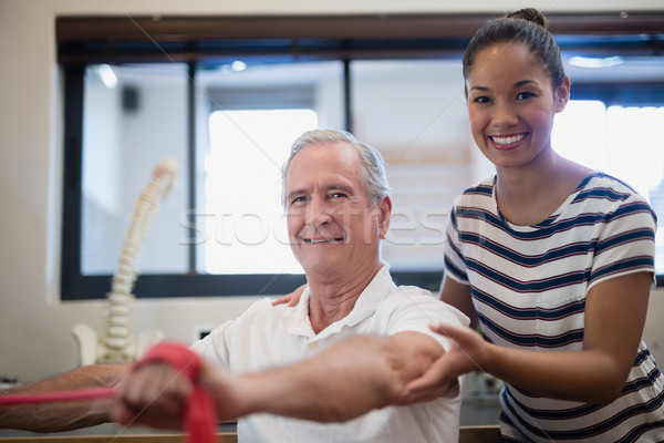 портрет улыбаясь старший мужчины пациент Сток-фото © wavebreak_media
