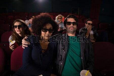 Groep mensen kijken film theater man film Stockfoto © wavebreak_media