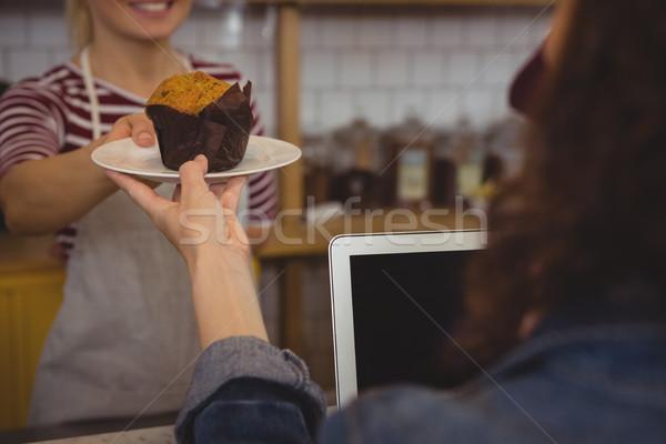 владелец оладья клиентов женщины Сток-фото © wavebreak_media