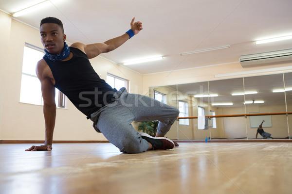 Male dancer rehearsing at studio Stock photo © wavebreak_media