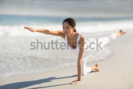 Stok fotoğraf: Adam · rahatlatıcı · plaj · seksi · mutlu