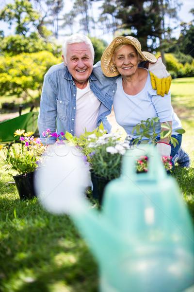 Tuinieren park portret gelukkig Stockfoto © wavebreak_media
