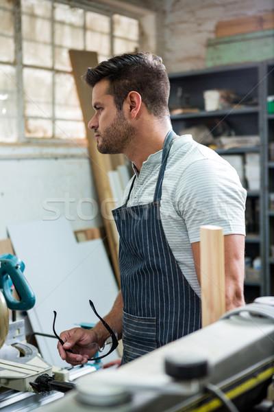плотник семинар человека студию инструментом Сток-фото © wavebreak_media